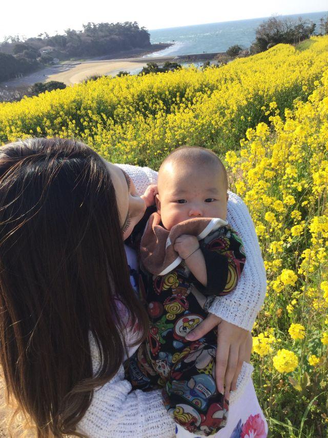 楓雅と菜の花畑♪
