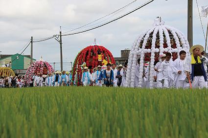 鶴市花傘鉾祭り