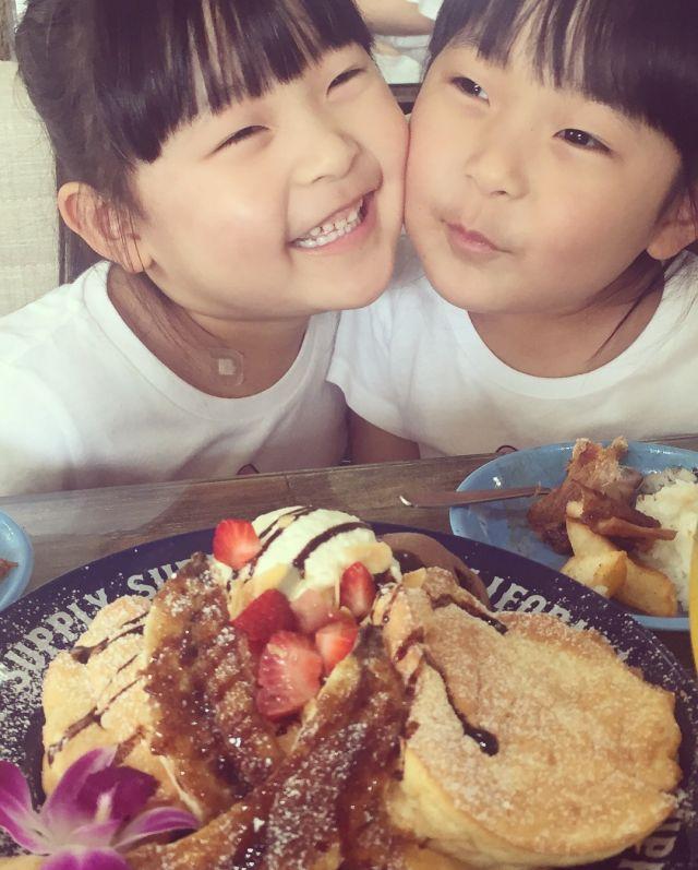 パンケーキおいしそ〜!