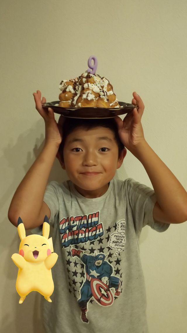 雄大くん9才の誕生日おめでとう!